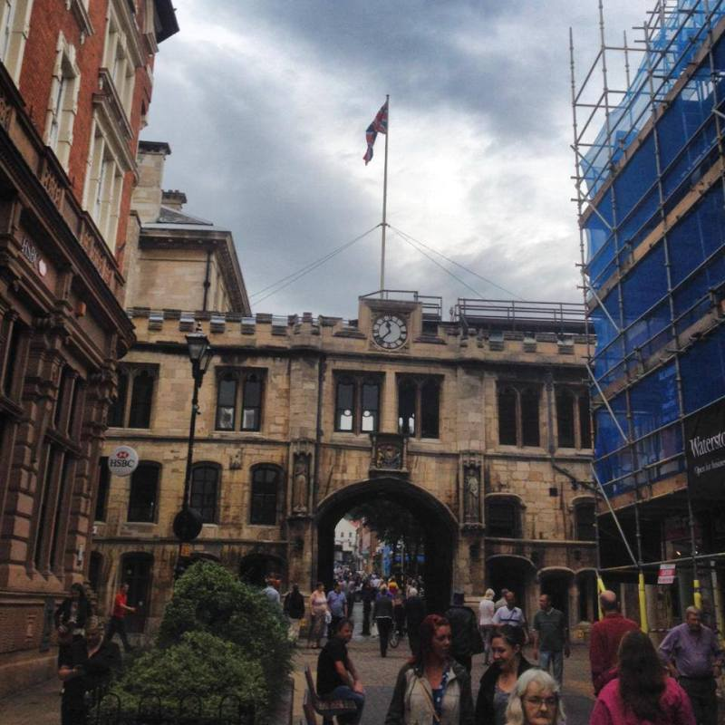 The City of Lincoln Council are flying the Union flag on the Stonebow above the Guildhall on the High Street in celebration of Kate and Will's Royal baby boy.