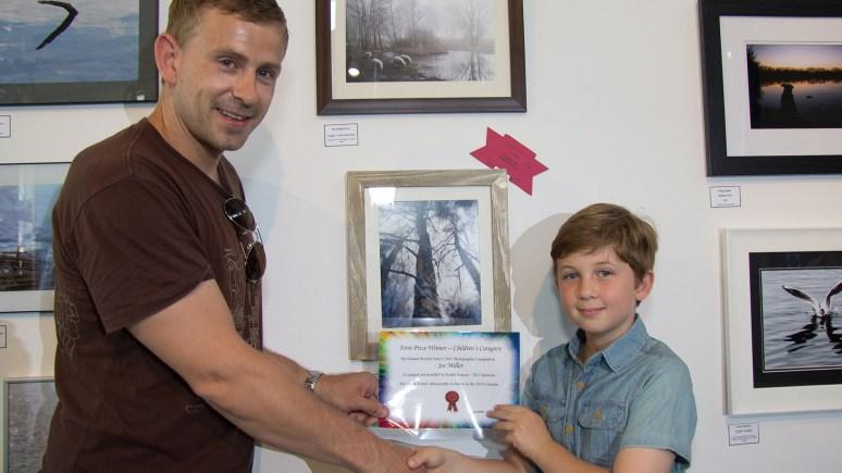 Joe Miller (8) wins the Children's Category. Photo: John Thomson