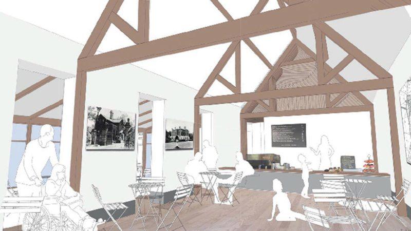 Inside the cafe at Boultham Park