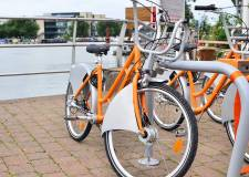 The Hirebikes were introduced in 2013 and have expanded to include more stations and passed many usage milestones. Photo: Steve Smailes for The Lincolnite