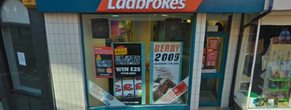 Ladbrokes bookmakers on Sincil Street in Lincoln. Photo: Google Street View