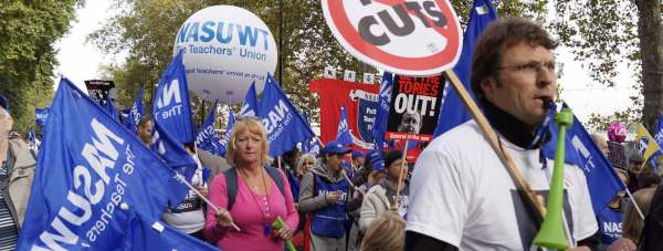 Teachers march in London. Photo: NASUWT
