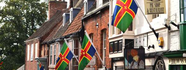 Lincolnshire Flags flying high for Lincolnshire Day. Photo: Emily Norton