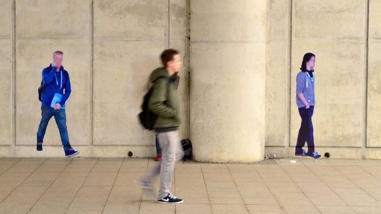 Street Ghosts on Campus Way in Lincoln from Paolo Cirio. Photo: Steve Smailes for The Lincolnite | View the Street View