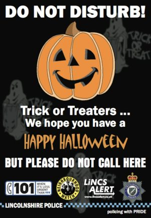 Lincolnshire Police Halloween campaign poster