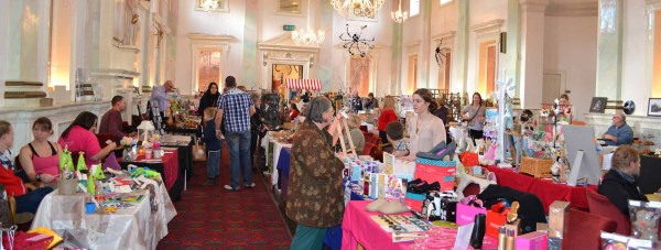 Stallholders at the Lincoln Craft and Gift Fair. Photo: Alan Mason for The Lincolnite