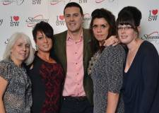 Slimming World Consultants meet Paddy McGuinness. L-R: Alexandra Gills, Maria Walmsley, Alison Merrill and Selina Hall. Photo: Slimming World