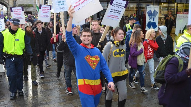 Supporters at the anti-racism demo in Lincoln. Photo: Emily Norton