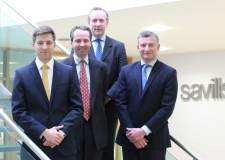 (L-R) Richard Gadd, Johnny Dudgeon, Andrew Pearce and Will Parry at Savills.