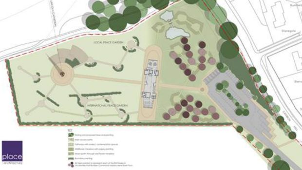 An overview of the memorial site plans. Photo: Place Architecture