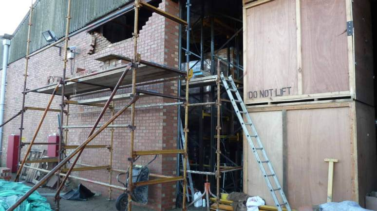 The scaffold which Mr Wilkin fell from. Photo: HSE