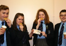The team of year nine pupils from the Priory Trust Academy LSST represented Lincoln in the Young Enterprise Tenner Relay. (L-R) Mitchell Wilkinson, Jordyn Mackay, Kiera Williams and Jacob Houghton.