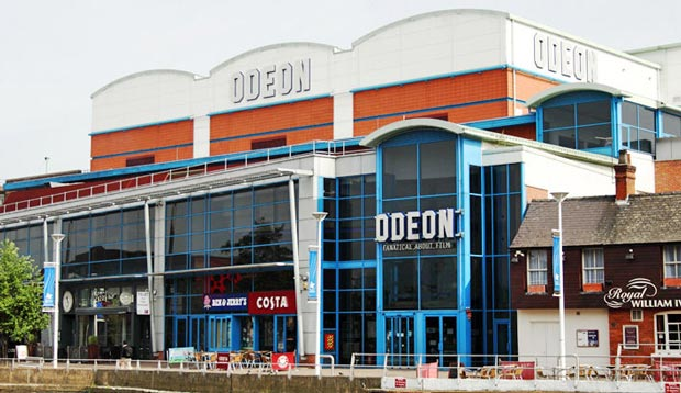 The Odeon Lincoln cinema on Brayford Pool