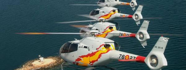 The Patrulla ASPA helicopter team. Photo: RAF Waddington