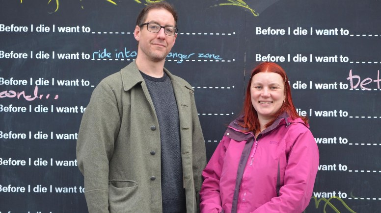 The Old Bunker Project founders (L to R) James Irvine and Lynsey Collinson. Photo: Emily Norton