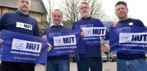 Teachers and NUT members met at Stags Head pub in Lincoln to strike agains pay, conditions and pensions on March 26. Photo: Steve Smailes for The Lincolnite