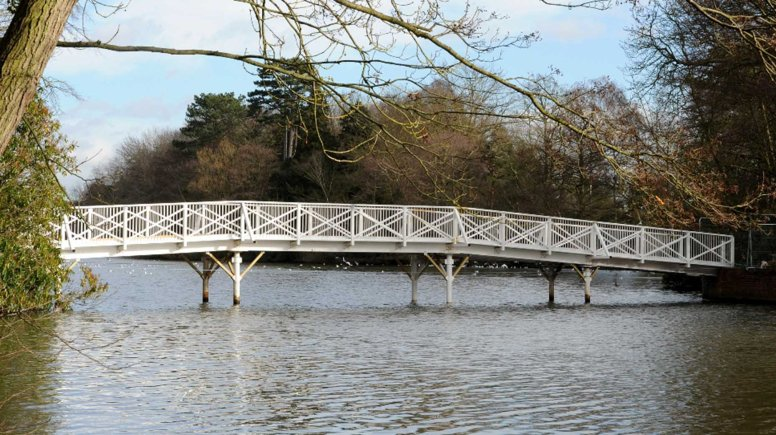 The newly re-built White Bridge at Hartsholme Park, Lincoln. Photo: CoLC