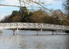 The newly re-built White Bridge at Hartsholme Park, Lincoln. Photo: CoLC