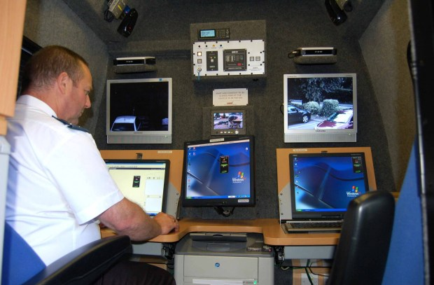 Inside North Yorkshire Police's ANPR van, where the technology is used as a valuable tool in fighting crime. Photo: North Yorkshire Police