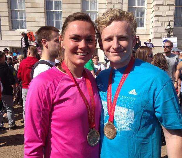 Adam Challis ran the London Marathon for Teens Unite and Verity.