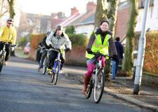 Cyclists in Lincoln. Photo: LCC