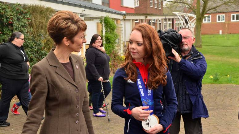 Jade with the Deputy Vice Chancellor for Academic Affairs at Bishop Grosseteste University, Dr Jayne Mitchell. Photo: Steve Smailes for The Lincolnite