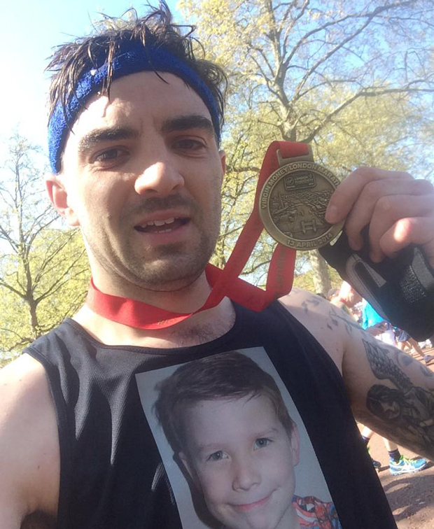 Joey Fisher from Lincoln ran the London Marathon on April 13.