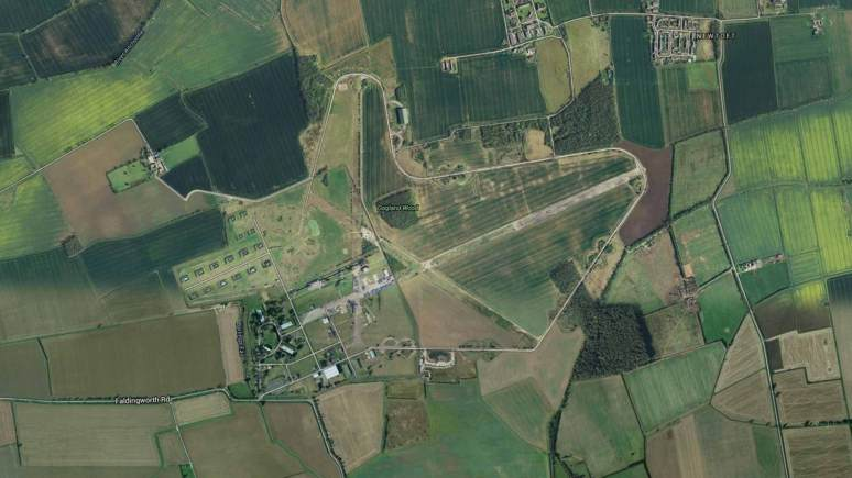 The former RAF Faldingworth base between Lincoln and Market Rasen. Map: Google