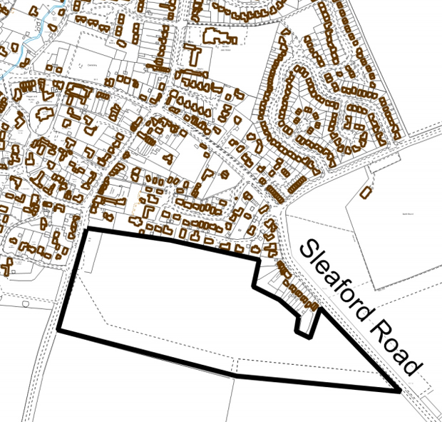Outline plans for the residential site off Steaford Road, Branston.