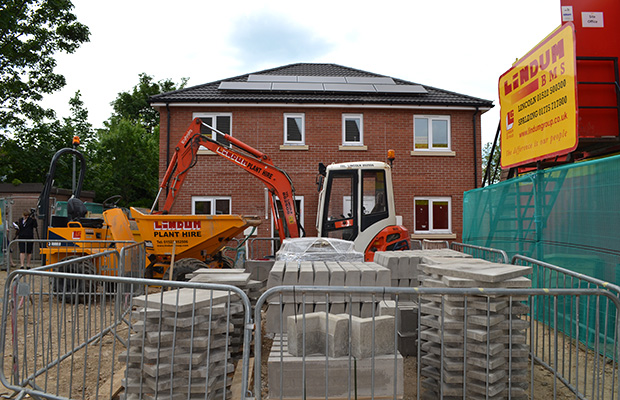 Work is almost finished at the Stapleford Avenue development of five council  eco-homes. Photo: Emily Norton
