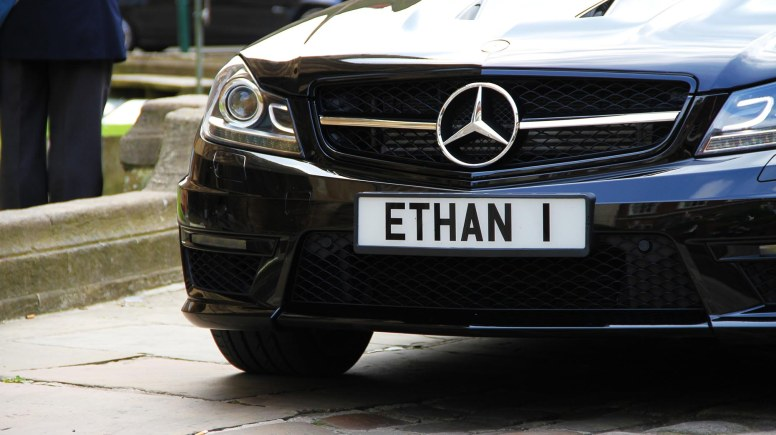 A personalised number plate for Ethan.