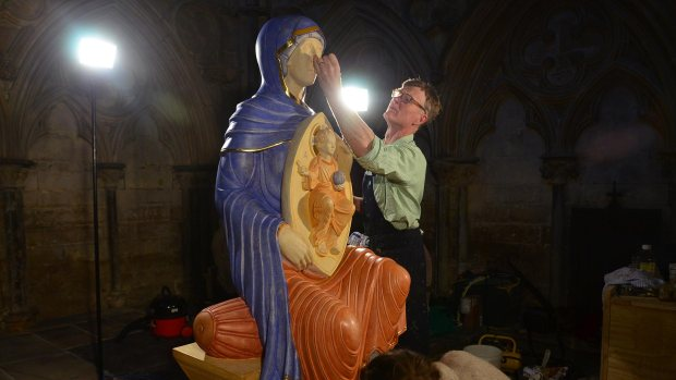 The sculpture was made by liturgical artist Aidan Hart, and took over three years to complete. Photo: Steve Smailes for The Lincolnite