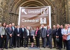 All the stakeholders involved in getting the brown signs for Lincoln on the A1. Photo: Steve Smailes for The Lincolnite