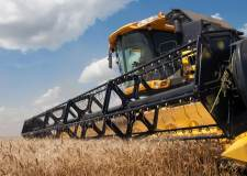 A farming combine in Lincolnshire.