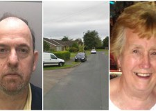 Nigel Constable (left) was detained indefinitely for the killing of his mother, Betty (right) at her home in Dunholme (centre).