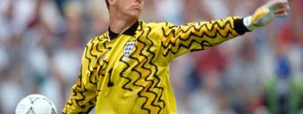Chris Woods whilst playing for England. Photo: FA