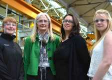 (L-R) Susan Garrick, Angela Borman, Val Andrews and Beth Turfrey. Photo: Emily Norton