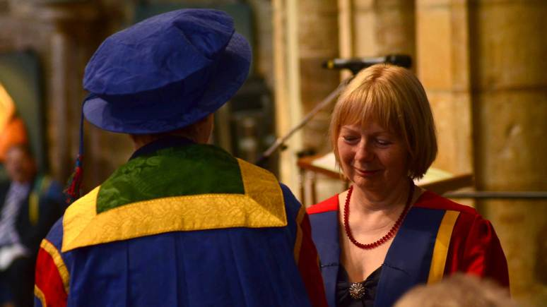 Prof Muriel Robinson at the graduation ceremony. Photo: Steve Smailes/The Lincolnite