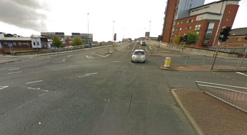 The Carholme Road/Brayford Way junction. Image: Google Street View