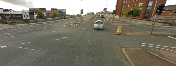 The Carholme Road/Brayford Way junction. Image: Google Street View