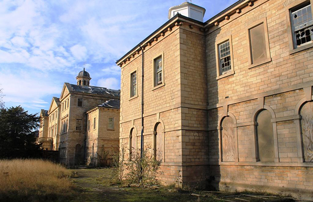 The building was originally a Victorian hospital built to treat people with mental illnesses.
