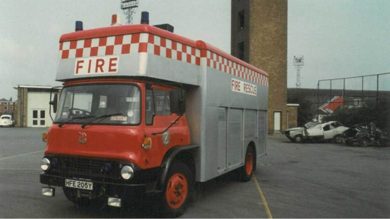 Bedford rescue tender from May 1983.