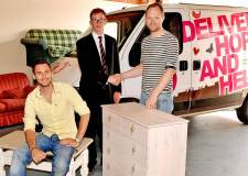 (L-R) Acts Trust Social Enterprise Manager Mike Darbandi, Banks Long & Co surveyor Jonathan Purkiss and Restore Manager Simon Hoare at the new premises.