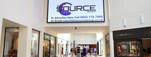 The new HD screen at Waterside Shopping Centre in Lincoln. Photo: The Lincolnite