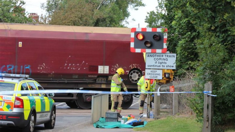 The incident happened near the level crossing in Cherry Willingham. Photo: Annette Edgar
