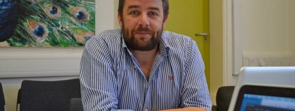 Richard Davies in The Lincolnite offices