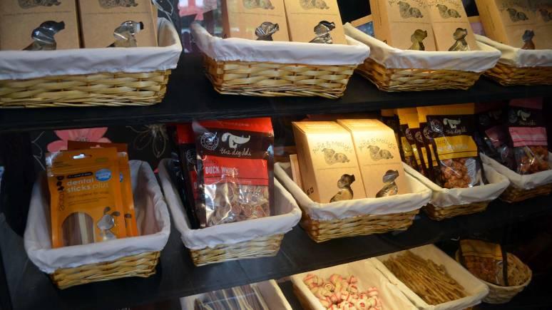 Tasty treats available in the barkery.