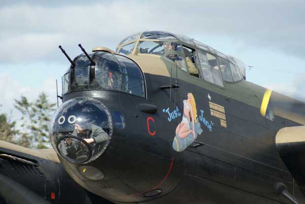 NX611 is one of only three working Lancasters worldwide. She taxys most Wednesdays and some Saturdays during the summer season.
