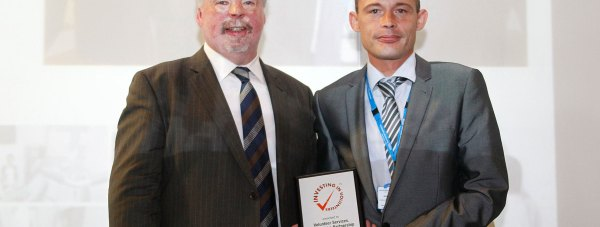Simon Weston OBE with Albert Clifton, LPFT Governor.