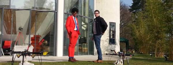 Richard Ayoade will try and control the Lincoln quadrocopters with his mind.
